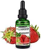 ALPHA POWER FOOD: Stevia líquida natural - Stevia Gotas de fresas con sabor a fruta, Edulcorante...
