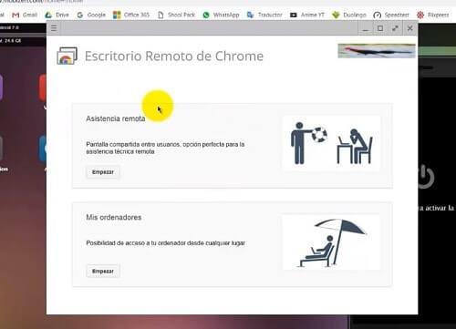 Escritorio Remoto de Chrome