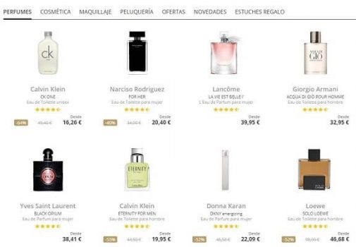 Perfume's Club outlets online