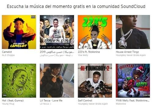 Soundcloud Spotify