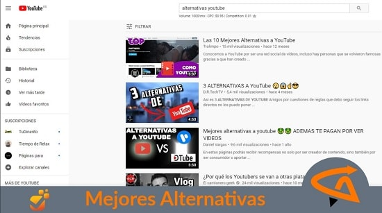 youtube alternativas