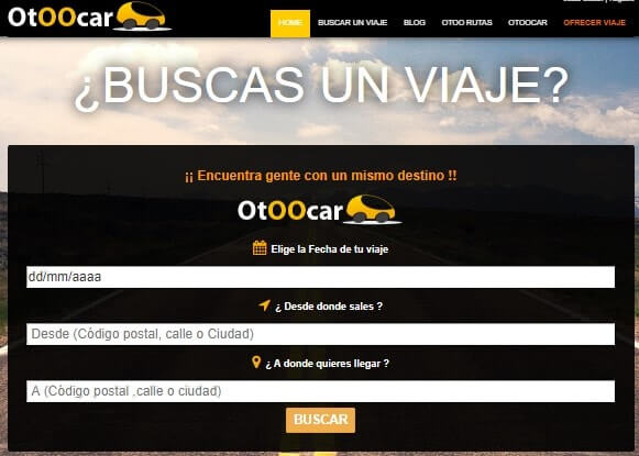 otoocar compartir un viaje coche