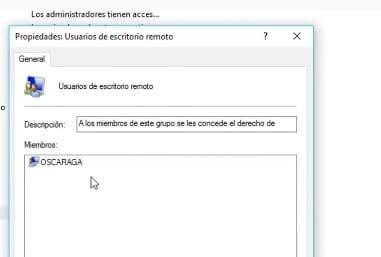 Escritorio remoto de Windows