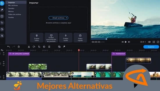 mejores alternativas a Movie Maker