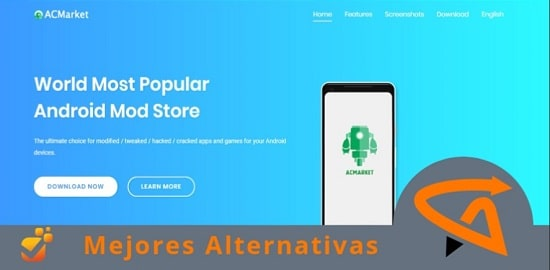 portales alternativos para descargar apps similares a acmarket
