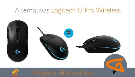 alternativas logitech g pro wireless
